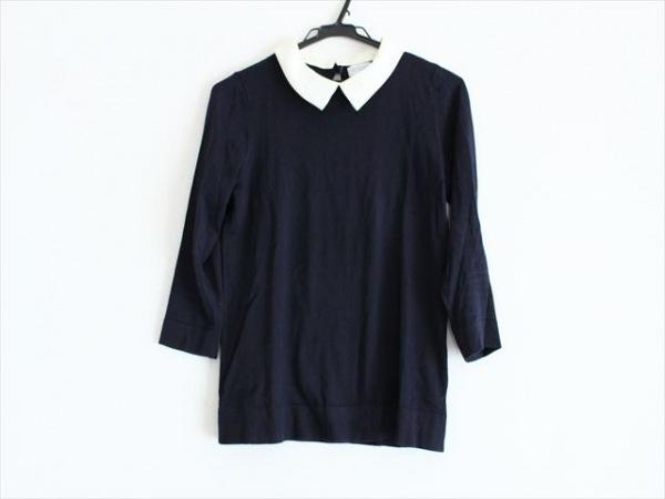 マッキントッシュフィロソフィー 七分袖セーター サイズ38 L レディース 黒×白