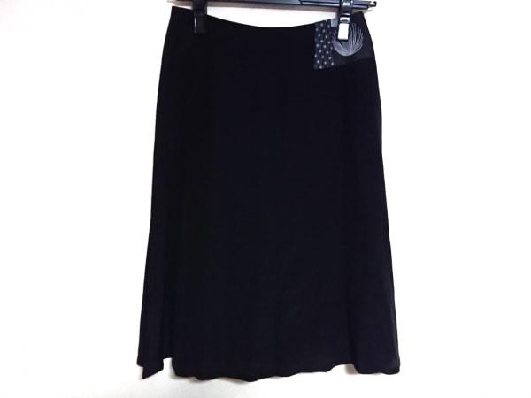 エーエフヴァンデヴォルスト スカート サイズ34 S レディース美品  黒×白 シースルー