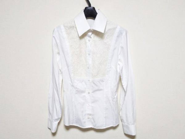 ナラカミーチェ 長袖シャツブラウス サイズ0 XS レディース新品同様  白×アイボリー