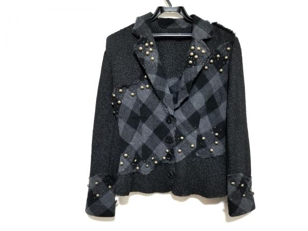 NOKO OHNO(ノコオーノ) ジャケット サイズ40 M レディース美品  グレー×黒×ゴールド