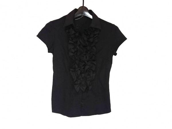 ナラカミーチェ 半袖シャツブラウス サイズ0 XS レディース美品  黒 フリル