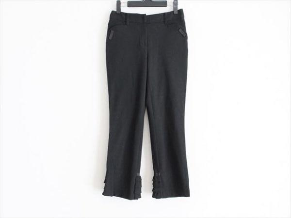 TO BE CHIC(トゥービーシック) パンツ サイズ38 M レディース美品  黒 リボン/フリル
