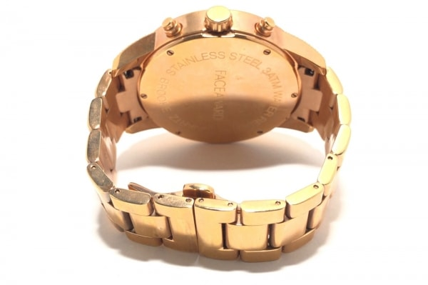 FACEAWARD(フェイスアワード) 腕時計 - メンズ ラインストーンベゼル 黒