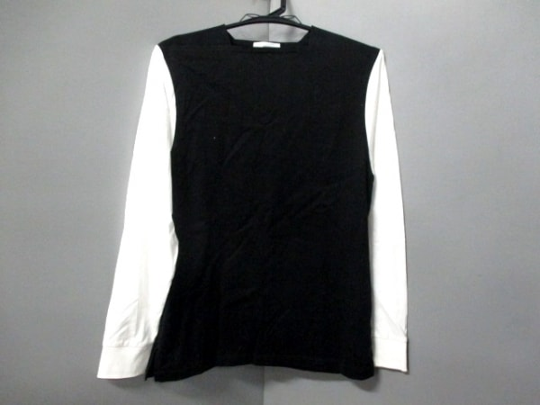HYKE(ハイク) 長袖カットソー サイズ1 S レディース美品  黒×白