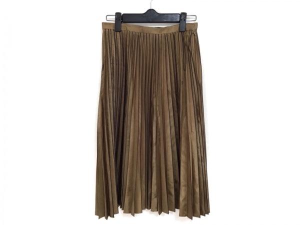 ヒロココシノ ロングスカート サイズ9 M レディース ゴールド×黒 プリーツ