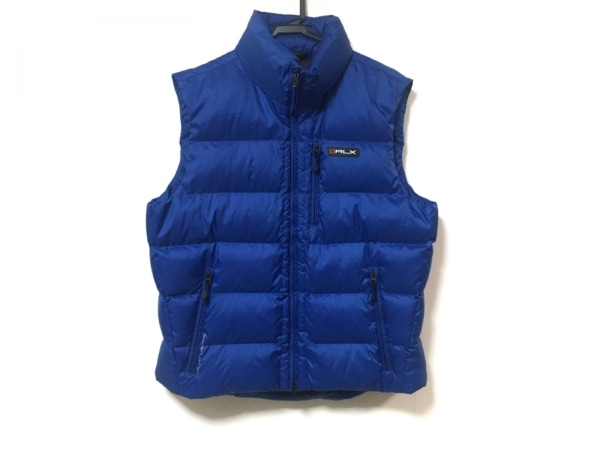 RLX(RalphLauren)(ラルフローレン) ダウンベスト サイズL メンズ美品  ブルー 冬物