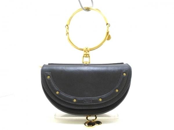 クロエ ハンドバッグ美品  ナイル スモールミノディエール CHC17US302H5H001 黒