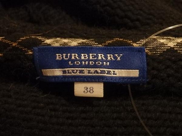バーバリーブルーレーベル ブルゾン サイズ38 M レディース 黒×ブラウン