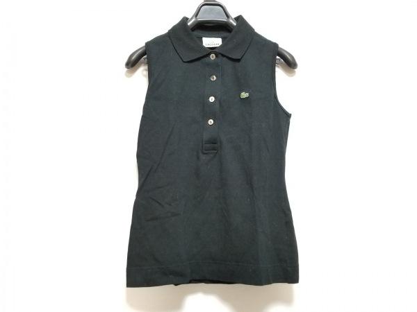 Lacoste(ラコステ) ノースリーブポロシャツ サイズ40 M レディース美品  黒