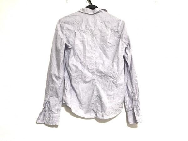 フランク&アイリーン 長袖シャツブラウス サイズXS レディース美品  白×パープル