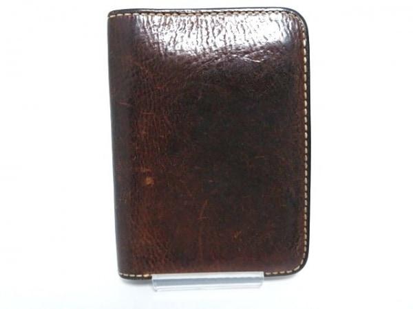 土屋鞄製造所(ツチヤカバンセイゾウショ) 2つ折り財布 ダークブラウン レザー