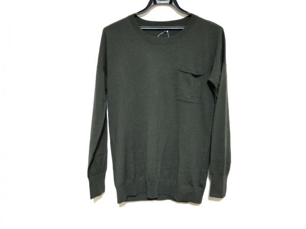 theory(セオリー) 長袖セーター サイズS メンズ美品  カーキ