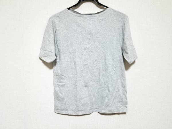 セントジェームス 半袖Tシャツ サイズUSA36 S メンズ美品  ライトグレー×白 ニット