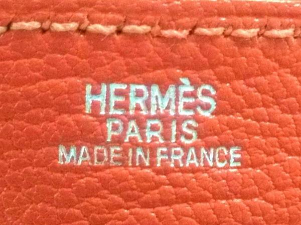 HERMES(エルメス) ペンケース新品同様  - オレンジ シェーブル