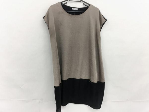 IKUKO(イクコ) ワンピース サイズ2 M レディース美品  ベージュ×黒