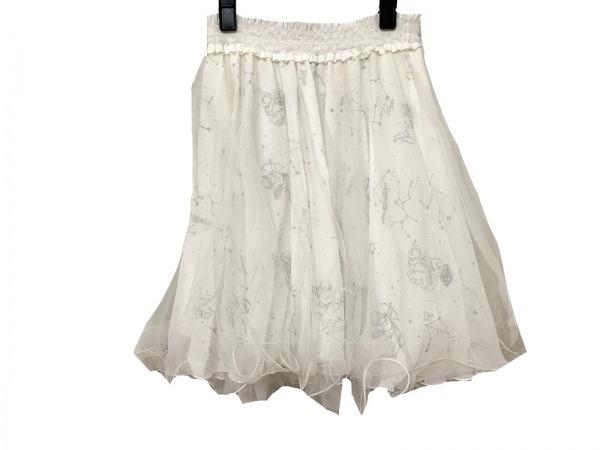 シークレットハニー ミニスカート サイズ2 M レディース美品  アイボリー×グレー