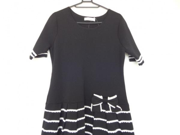 GALLERYVISCONTI(ギャラリービスコンティ) ワンピース レディース美品  黒×白 リボン