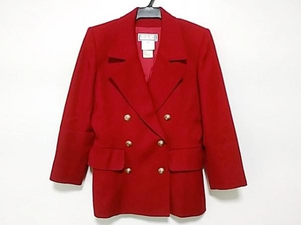 イヴサンローラン ジャケット サイズ38 M レディース レッド 肩パッド/variation