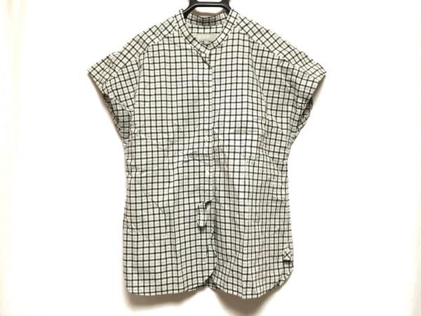 マーガレットハウエル ノースリーブシャツブラウス サイズ2 M レディース チェック柄