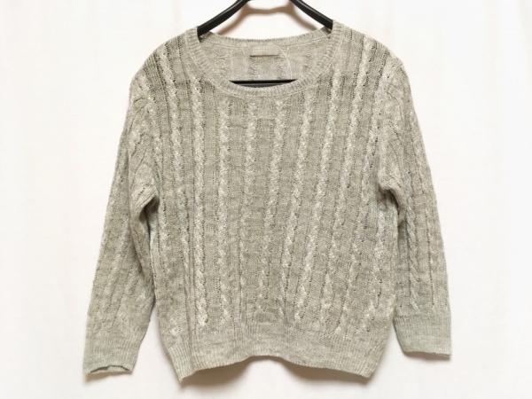 マーガレットハウエル 長袖セーター サイズ2 M レディース美品  ライトグレー 麻