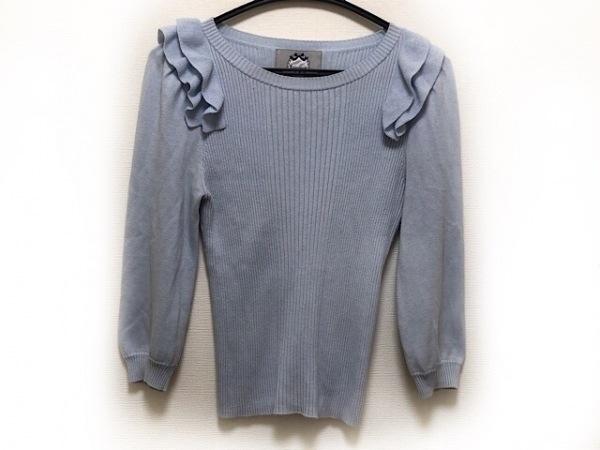 リランドチュール 長袖セーター サイズ2 M レディース ライトブルー フリル