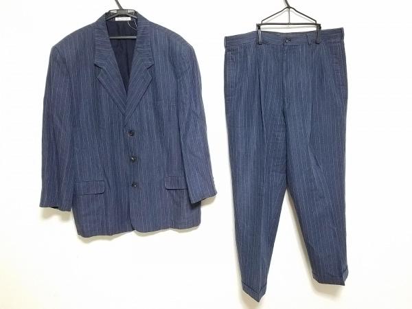 Papas(パパス) シングルスーツ サイズL メンズ ネイビー×白