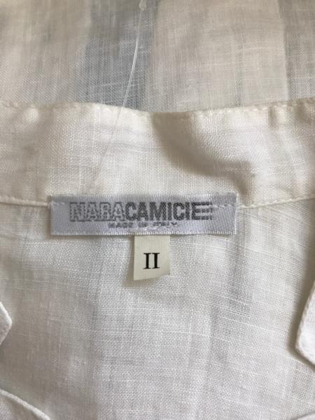 NARACAMICIE(ナラカミーチェ) 半袖シャツブラウス サイズ2 M レディース 白