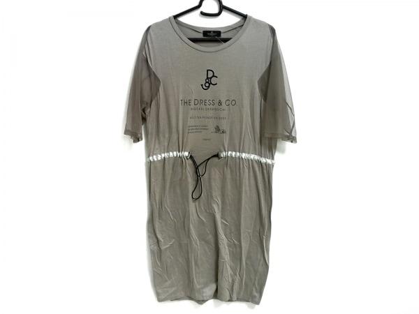 the dress&co(ザドレスアンドコー) ワンピース レディース ライトブラウン シースルー