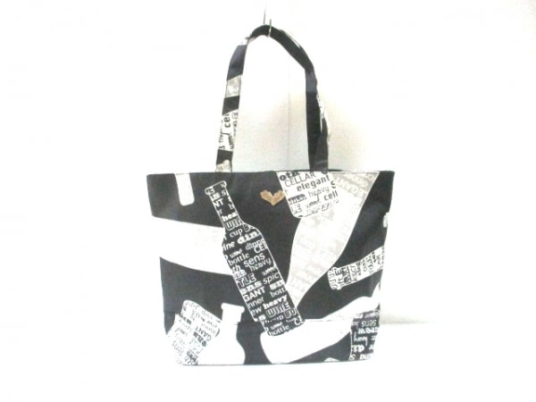 JustHeart(ジャストハート) トートバッグ美品  黒×白×グレー 化学繊維