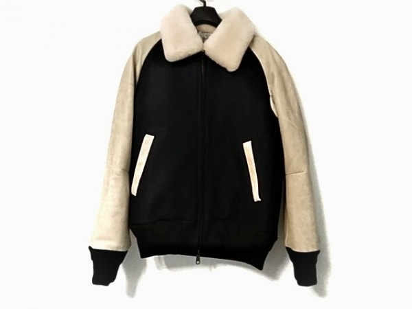 NUMBER (N)INE(ナンバーナイン) ブルゾン サイズ2 M メンズ美品  袖レザー/冬物