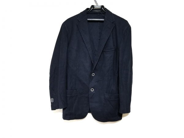 CORNELIANI(コルネリアーニ) ジャケット サイズ50 メンズ美品  ネイビー ネーム刺繍