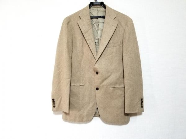 ヒッキーフリーマン ジャケット サイズ94A6 メンズ美品  ベージュ カシミヤ混