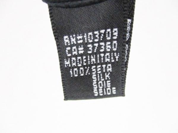 ジョルジオアルマーニ ネクタイ メンズ 黒×グレー×白 斜めストライプ