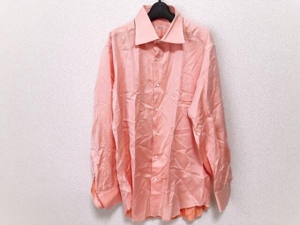 FRAY(フレイ) 長袖シャツ サイズ17 | 43 メンズ美品  オレンジ