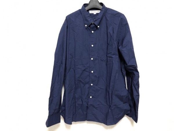Individualized Shirts(インディビジュアライズドシャツ) 長袖シャツ メンズ ネイビー