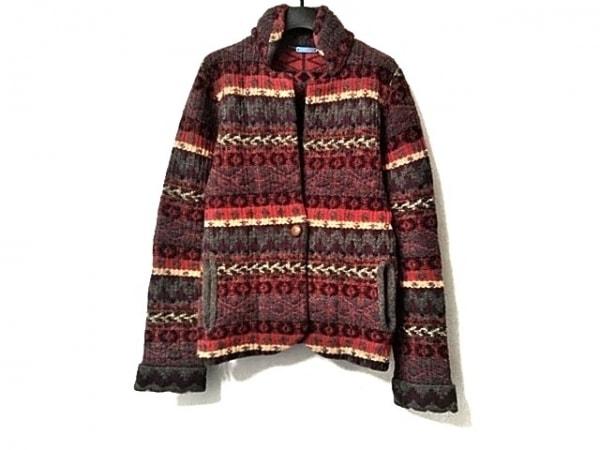 nuur(ヌール) ジャケット サイズS レディース美品  ピンク×パープル×マルチ ニット
