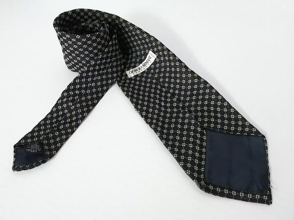 GIORGIOARMANI(ジョルジオアルマーニ) ネクタイ メンズ 黒×ライトグリーン