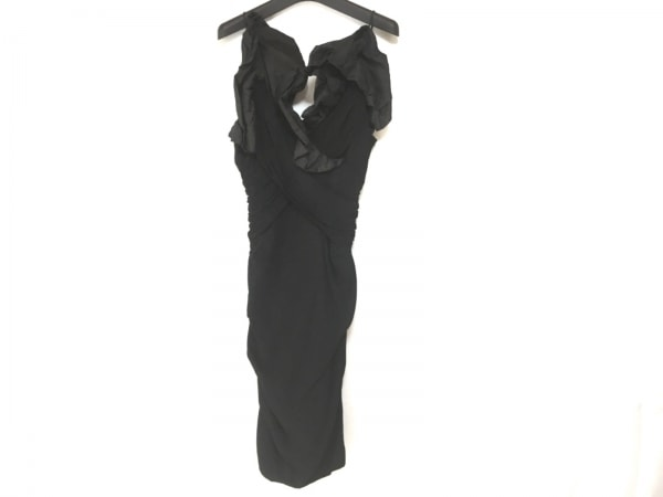 nicole miller(ニコルミラー) ドレス サイズ0 XS レディース 黒 フリル