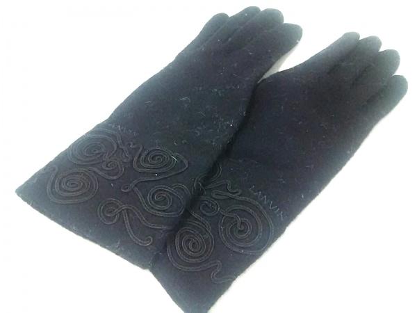 LANVIN(ランバン) 手袋 レディース 黒 ウール 1