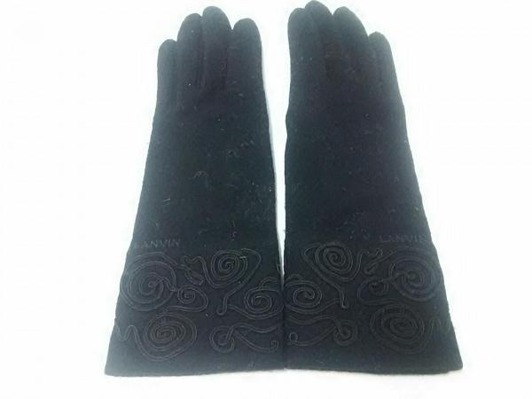 LANVIN(ランバン) 手袋 レディース 黒 ウール 2