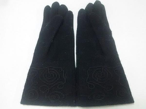 LANVIN(ランバン) 手袋 レディース 黒 ウール 3