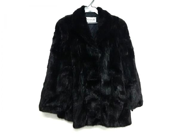 nakamura fur(ナカムラファー) コート レディース美品  ダークグレー 冬物/ネーム刺繍