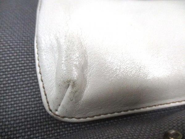 BLEUET(ブルエ) トートバッグ グレー×白 キャンバス×合皮