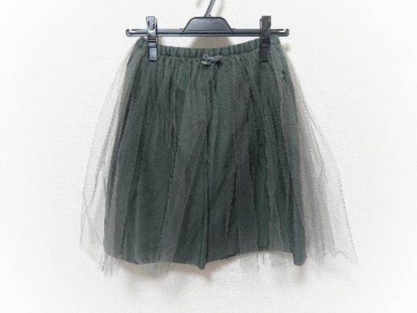 Bilitis(ビリティス) スカート サイズ36 S レディース新品同様  カーキ チュール