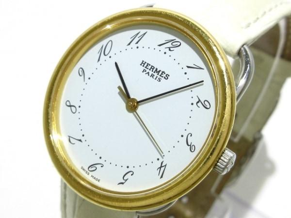 HERMES(エルメス) 腕時計 アルソー AR3.520 レディース 社外ベルト 白