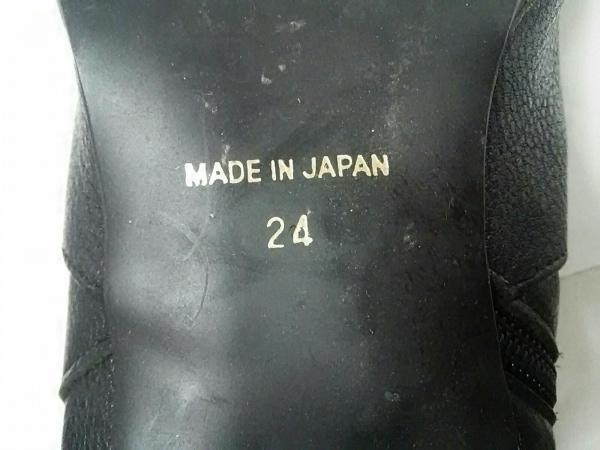 カムイウォーターマッサージ ロングブーツ 24 レディース 黒 レザー