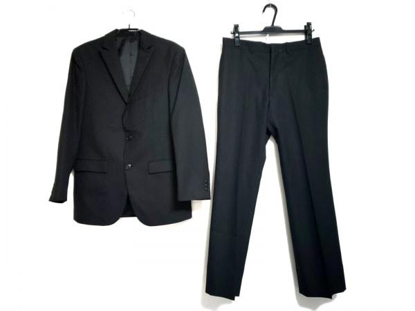 MALE&Co(メイルアンドコー) シングルスーツ サイズA5 メンズ 黒 ストライプ