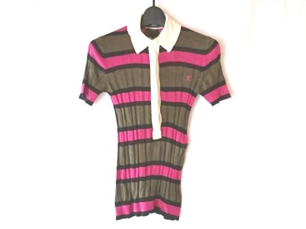 ルイヴィトン 半袖ポロシャツ サイズS レディース - カーキ×アイボリー×マルチ
