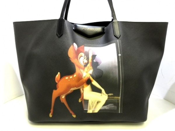GIVENCHY(ジバンシー) トートバッグ アンティゴナ 黒×マルチ バンビ レザー
