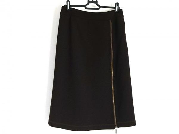 自由区/jiyuku(ジユウク) スカート サイズ40 M レディース美品  ダークブラウン